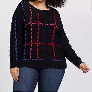 Fashion to figure  stich multi color sweater